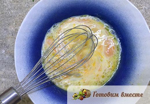 Диетический омлет на сковороде