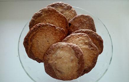 Двухслойное шоколадное печенье с лимонной цедрой