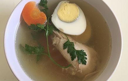 как сварить прозрачный куриный суп
