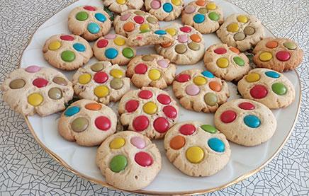 песочное печенье с конфетами m&m's