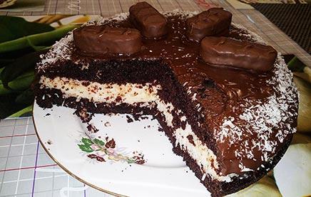 как приготовить торт баунти