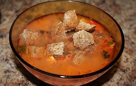суп с консервами рыбными в томате