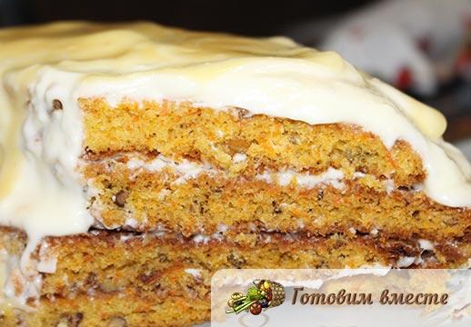 Морковный торт маскарпоне готов
