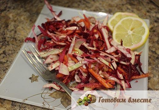 Быстрый и простой салат для похудения щётка готов