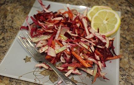 Рецепт салата щетка для похудения