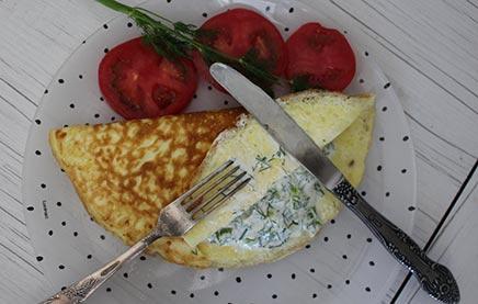 Омлет со сметаной рецепт с фото